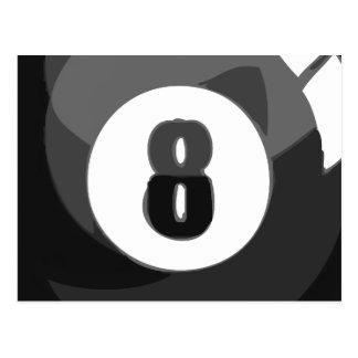 Piscina de 8 bolas postal