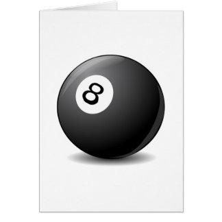 Piscina de 8 bolas felicitación