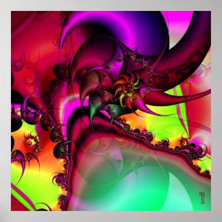 Piscina de la impresión espiral del arte de rey Va Póster