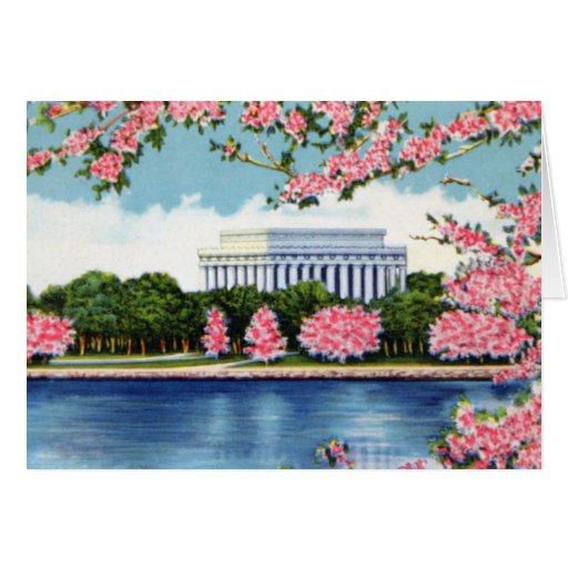 Piscina de la reflexión del Lincoln memorial del W Felicitacion