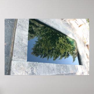 Piscina de la reflexión póster