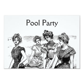 """Piscina de los chicas de Gibson o fiesta de la Invitación 3.5"""" X 5"""""""