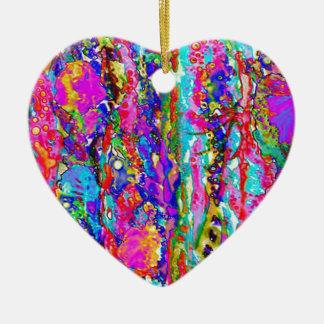 Piscina de marea adorno navideño de cerámica en forma de corazón