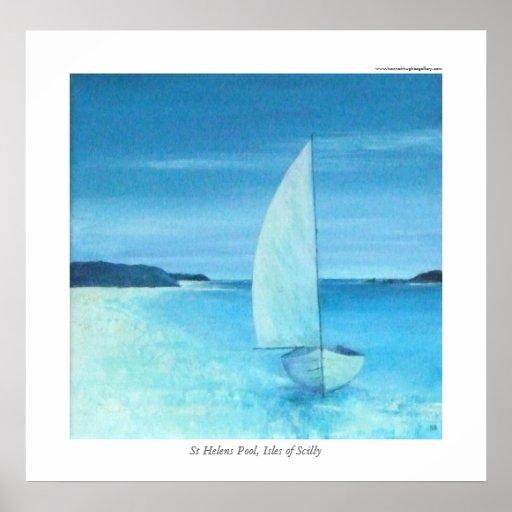 Piscina de St Helens, islas de Scilly Poster