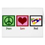 Piscina del amor de la paz felicitación