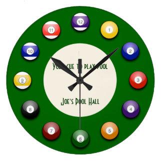 Piscina del juego - un reloj de pared de la bola d