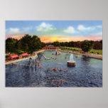 Piscina del parque del indicador del Topeka Kansas Poster
