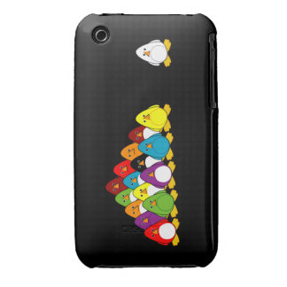 Piscina del pingüino iPhone 3 cárcasa
