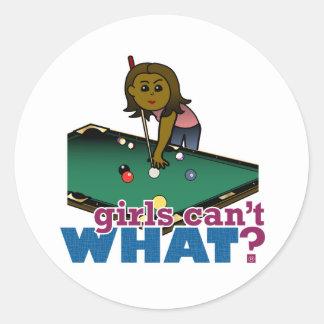 Piscina del tiroteo del chica etiqueta redonda
