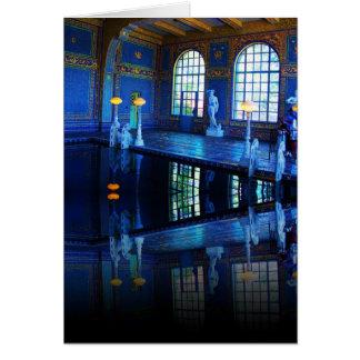 Piscina interior del castillo de Hearst de la imag Felicitaciones