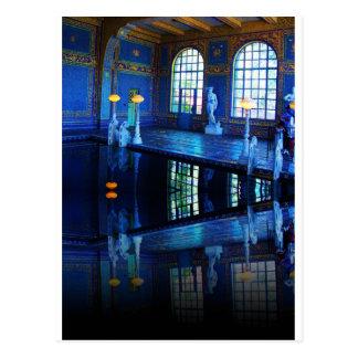 Piscina interior del castillo de Hearst de la imag Tarjeta Postal