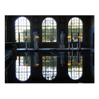 Piscina interior del castillo de Hearst Tarjetas Postales