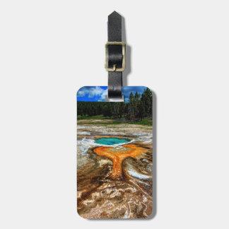 Piscina la termal de Yellowstone Etiqueta De Maleta