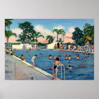 Piscina municipal de Lakeland la Florida Poster
