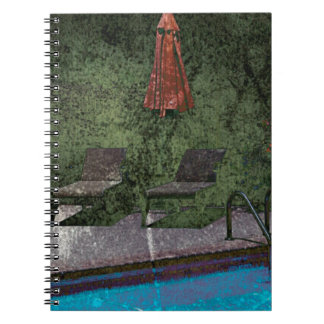 Piscina sucia abandonada spiral notebook