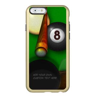 Piscina y billares de ocho bolas personalizados funda para iPhone 6 plus incipio feather shine