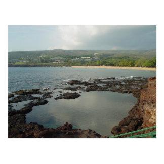 Piscinas de Keiki en Lanai, postal de Hawaii