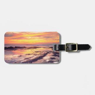 Piscinas de la marea de los acantilados de la etiquetas maletas