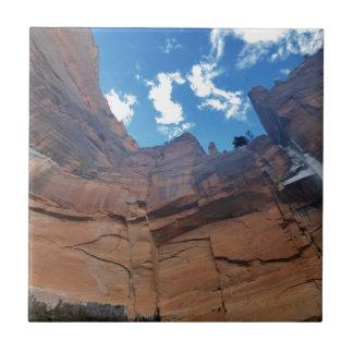 Piscinas esmeralda que lloran el parque nacional azulejo cuadrado pequeño