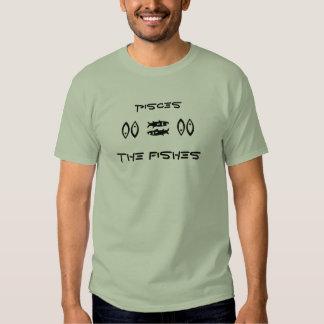 Piscis la camiseta del zodiaco de los pescados a playeras