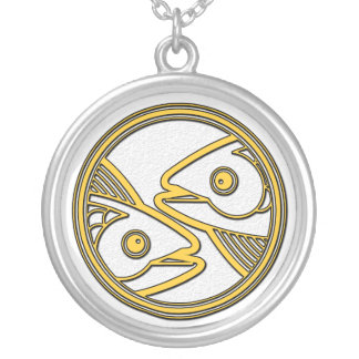 Piscis los pescados Collar pendiente de plata