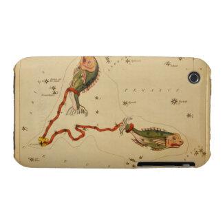Piscis los pescados - muestra del vintage de la funda para iPhone 3