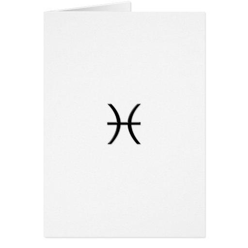 Piscis - muestra del zodiaco tarjeta de felicitación