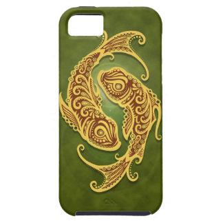 Piscis tribales verdes complejos iPhone 5 Case-Mate carcasa