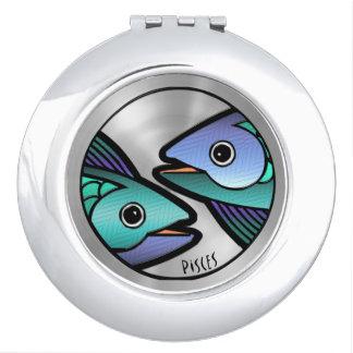 Piscis Z (espejo compacto redondo)