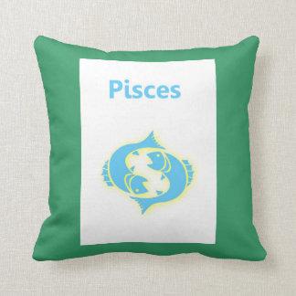 Piscis zodiaco muestra 19 de febrero - 20 de marzo cojines