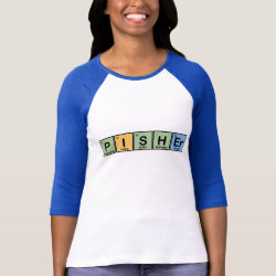 Ladies Raglan Fitted T-Shirt with Pisher Made of Elements design
