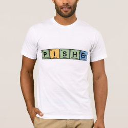 Men's Basic American Apparel T-Shirt with Pisher Made of Elements design