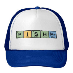 Trucker Hat with Pisher Made of Elements design