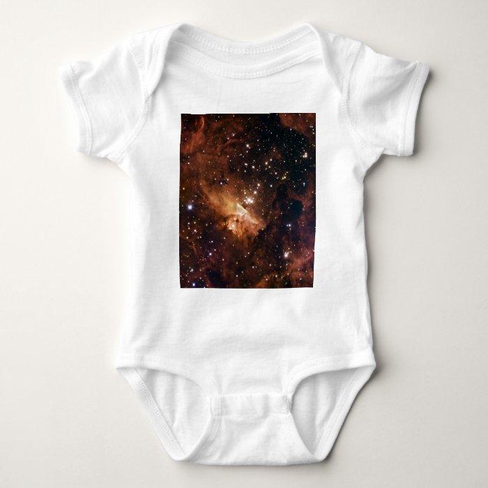 Pismis 24 brown starry sky baby bodysuit