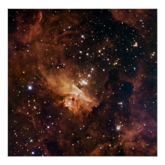 Pismis 24 brown starry sky poster