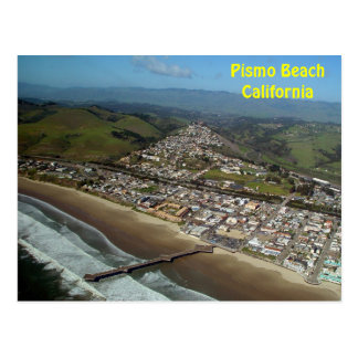 Pismo Beach, California Aerial View Postcard