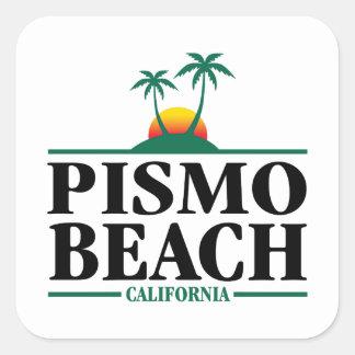 Pismo Beach California Square Sticker