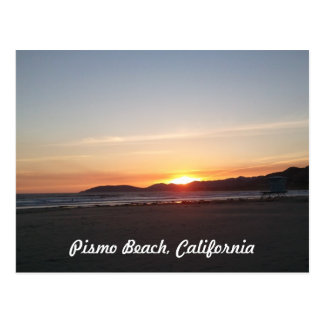 Pismo Beach California Sunset Postcard