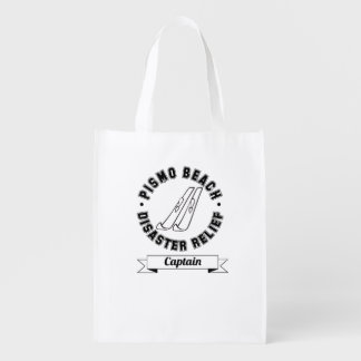 Pismo Beach Disaster Relief Captain Reusable Bag Grocery Bags