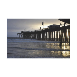 Pismo Beach Pier Sunset Canvas Print