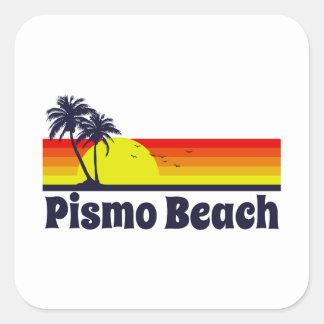 Pismo Beach Square Sticker