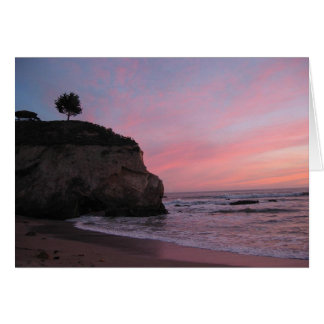 Pismo Beach Sunset Card