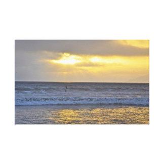 Pismo Beach surfer sunset Canvas Prints