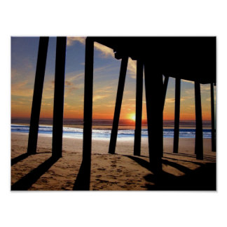 pismo pier sunset poster