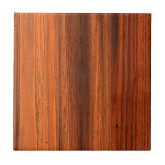 Piso de madera apenado castaña del grano azulejo cuadrado pequeño