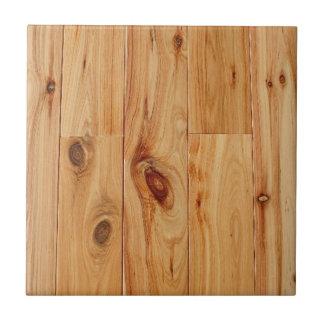 Piso de madera ligero nudoso del grano azulejo cuadrado pequeño