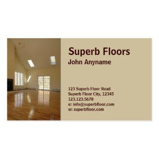 piso de madera tarjetas de visita