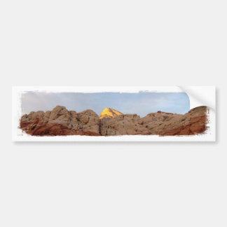 Piso del desierto al techo etiqueta de parachoque