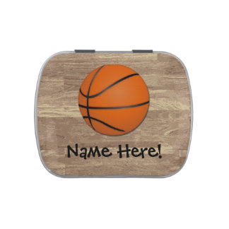 Piso personalizado de madera del baloncesto frascos de caramelos