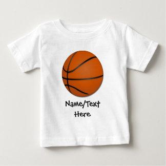 Piso personalizado de madera del baloncesto remera